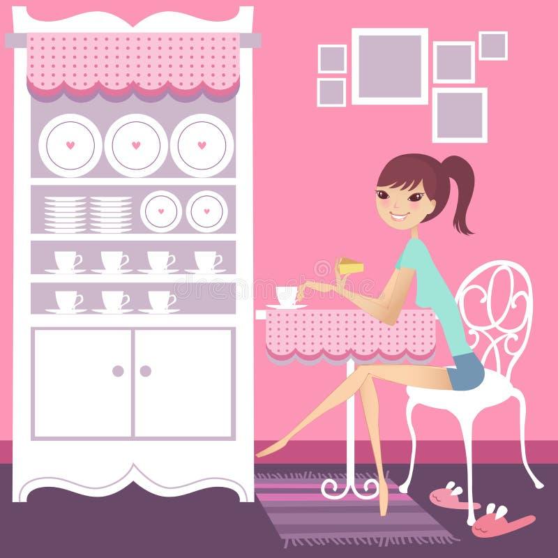Rotura de té ilustración del vector