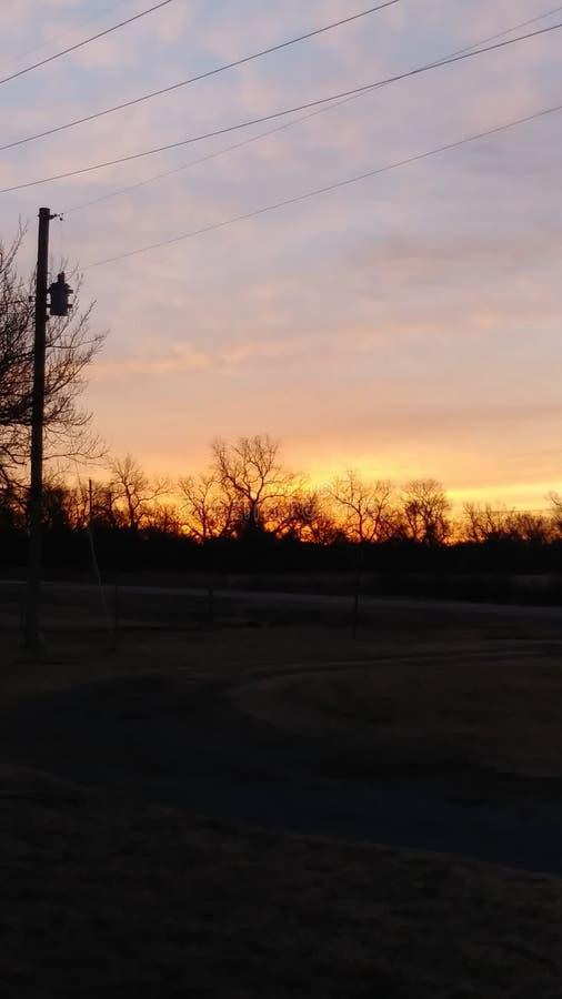 Rotura del amanecer el condado de Comanche aceptable fotos de archivo