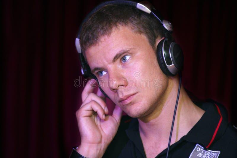 Rotura violenta de DJ foto de archivo