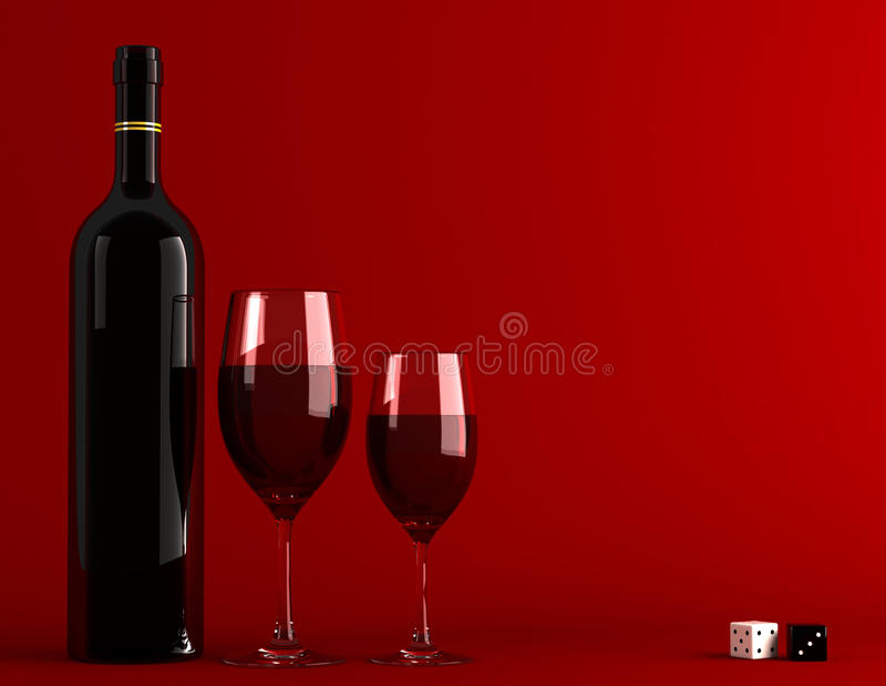 Rotwein lizenzfreie abbildung
