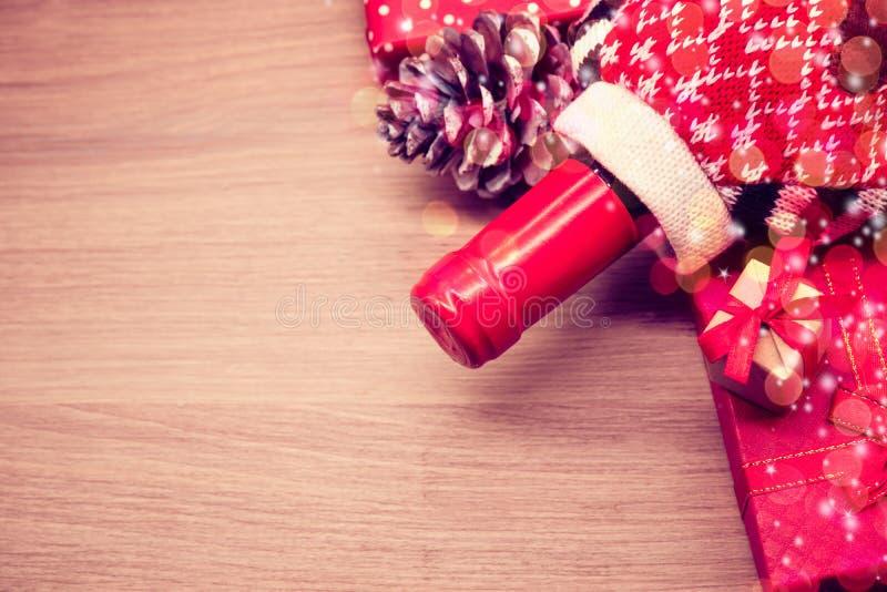 Rotwein für Weihnachtsfest stockbild