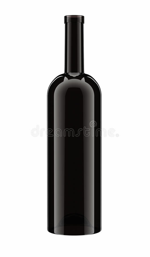 Rotwein-Flasche stock abbildung