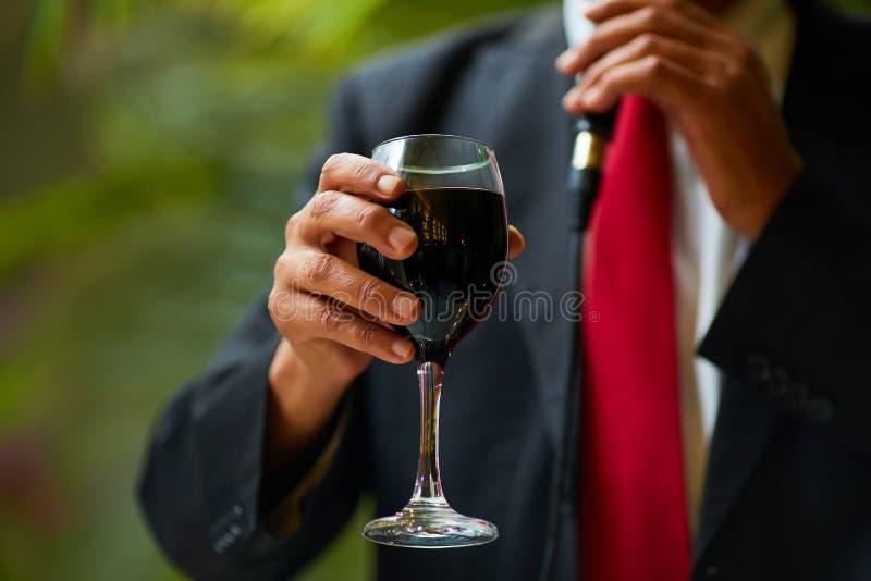 Rotwein Glückwünsche Baikal stockbild