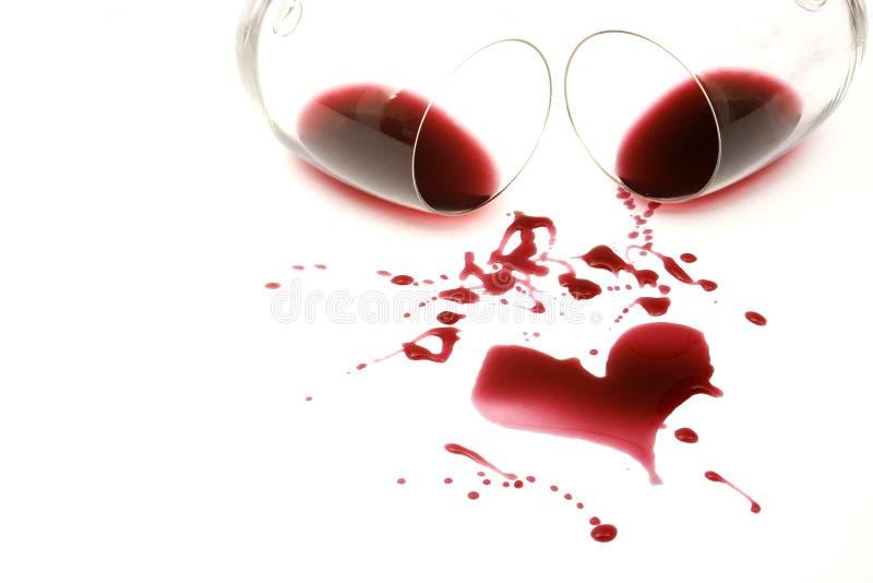 Rotwein Romance stockbilder