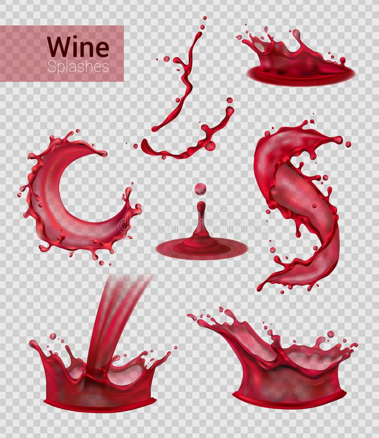Rotwein-Spray-Sammlung vektor abbildung
