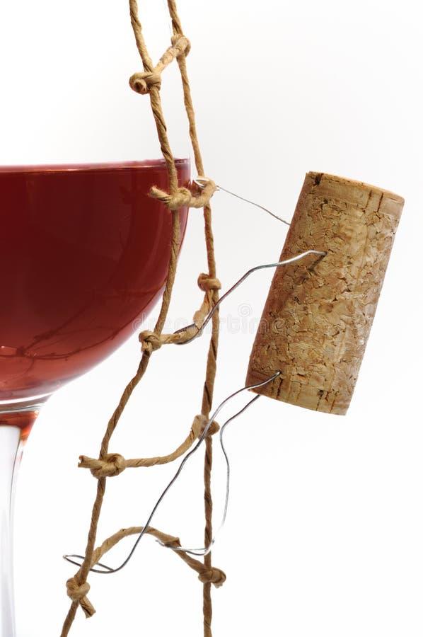 Rotwein und corck lizenzfreie stockbilder