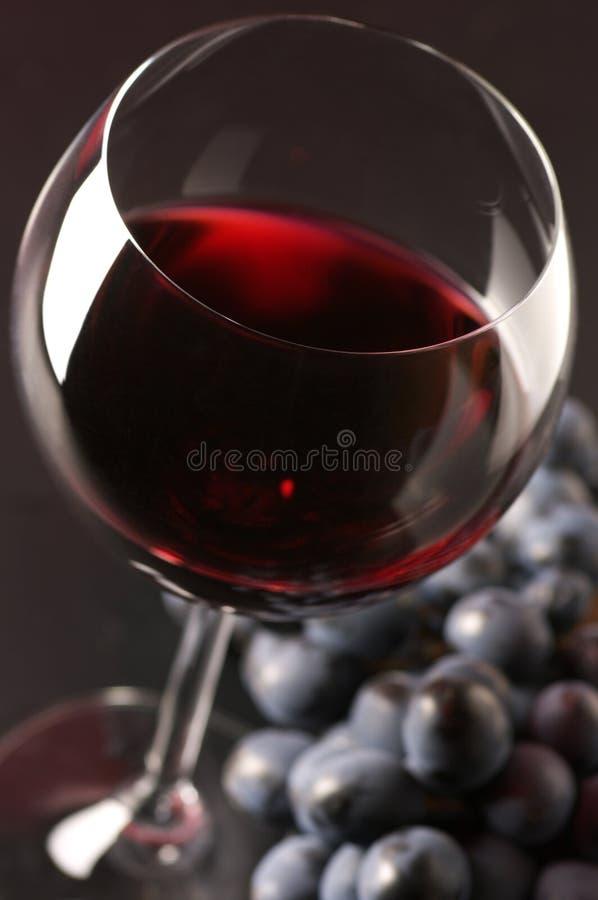 Rotwein und Traube stockfotos