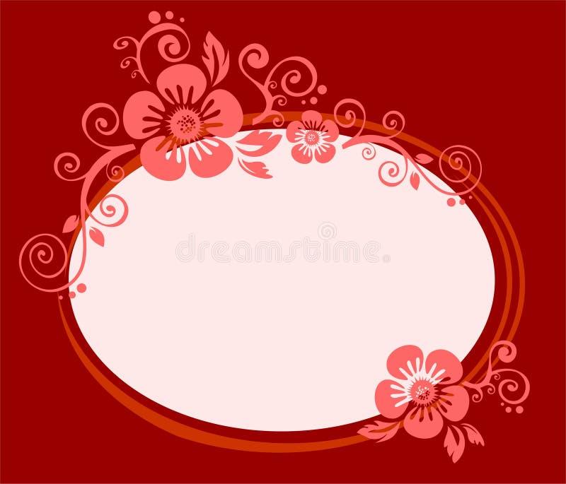 Rotweinblumenfeld vektor abbildung