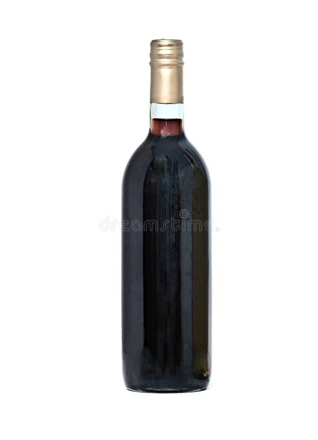 Rotweinflasche lizenzfreie stockfotografie