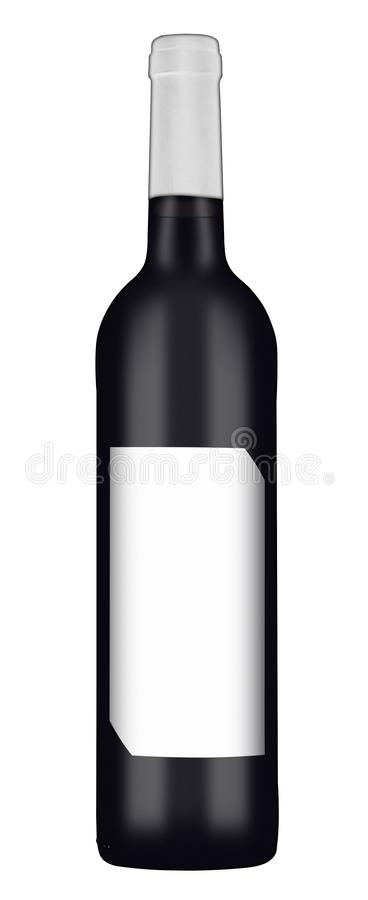 Rotweinflasche 2 stockbilder