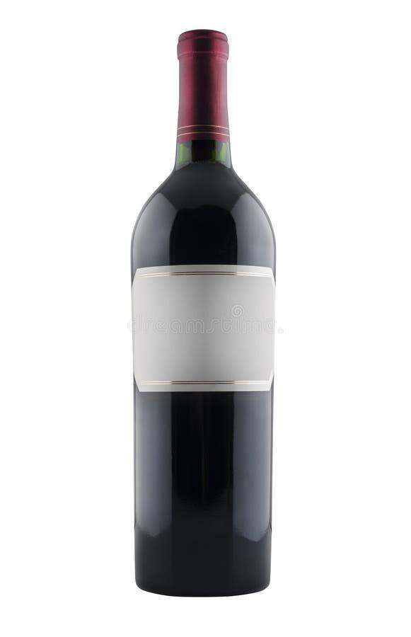 Rotweinflasche, getrennt lizenzfreie stockfotografie