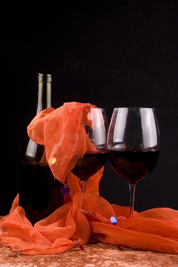 Rotweingläser stockfoto