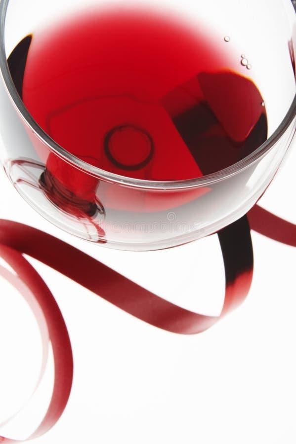 Rotweinglas lizenzfreies stockfoto