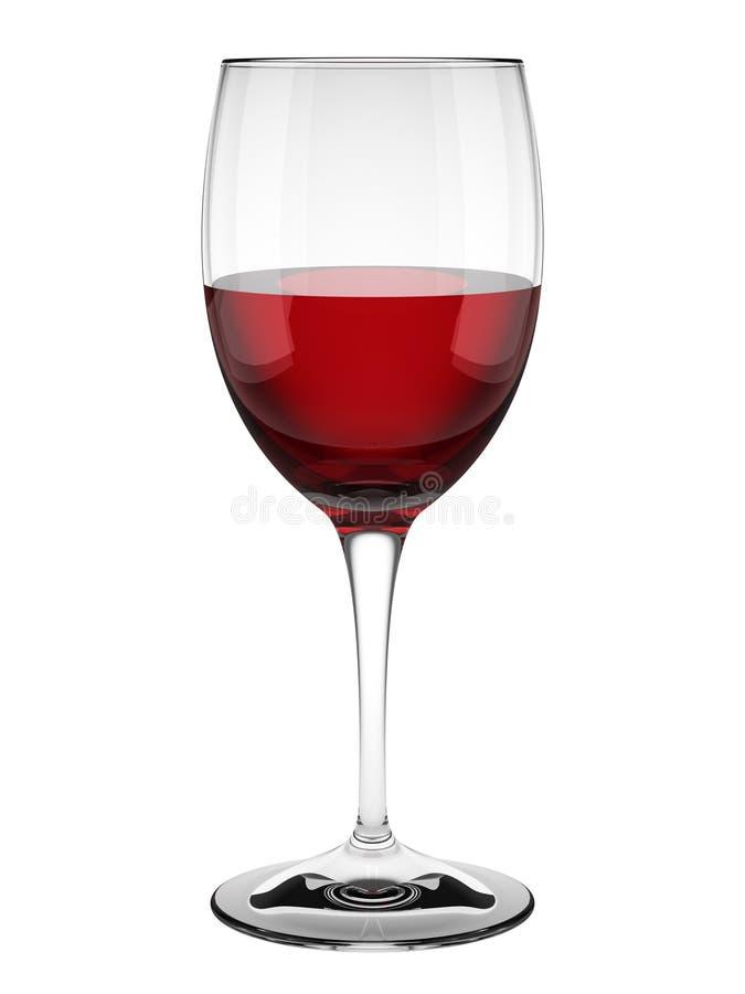 Rotweinglas getrennt auf Weiß stockfotografie