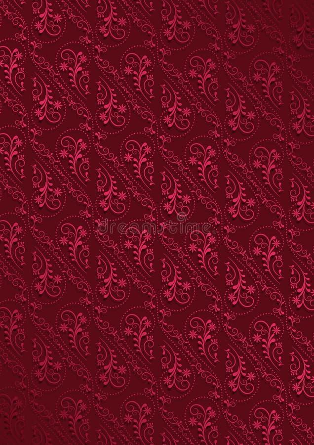 Rotweinhintergrund mit hochrotem Muster lizenzfreie abbildung