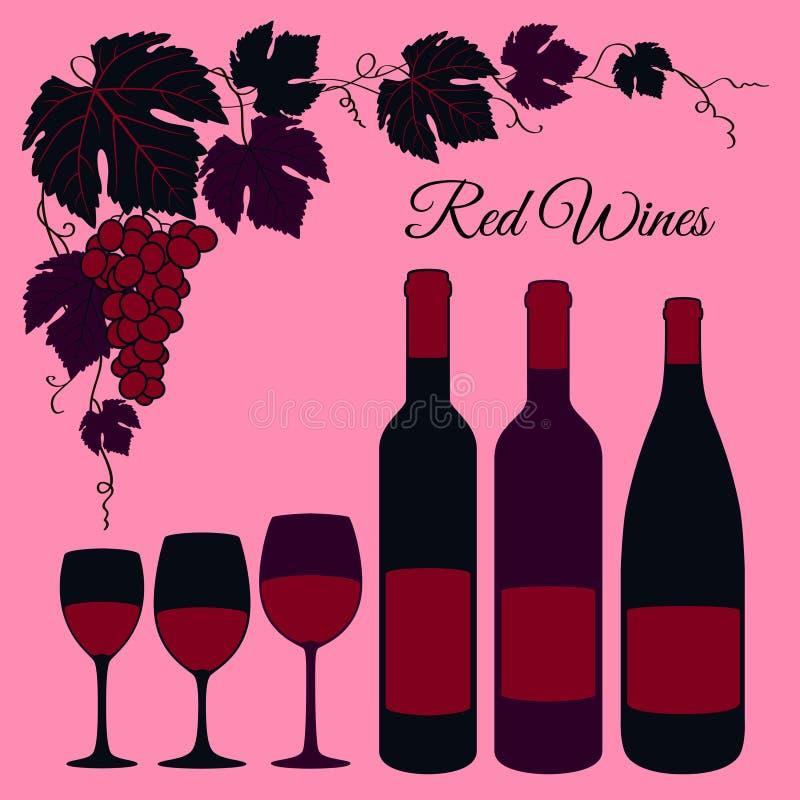 Rotweinsatz stock abbildung