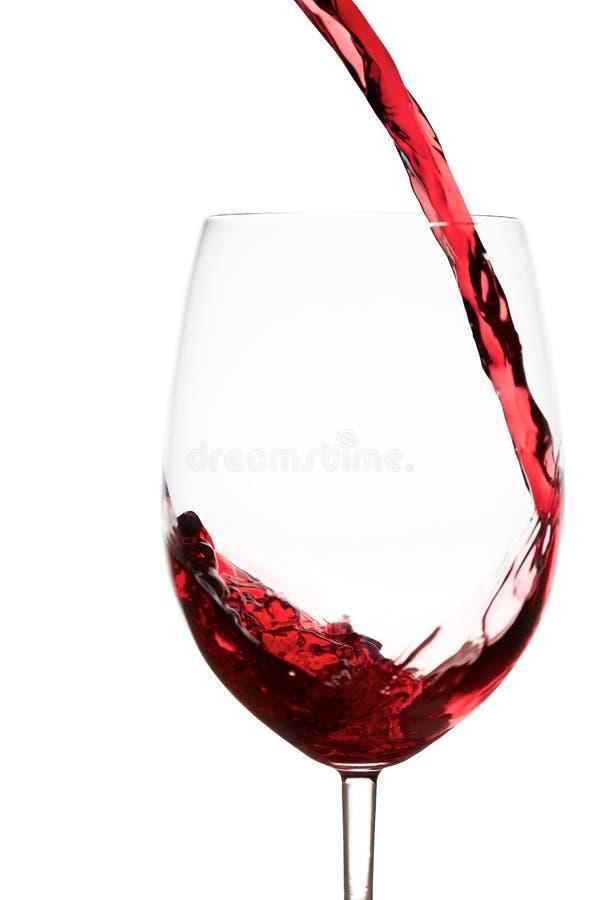 Rotweinspritzen stockbild