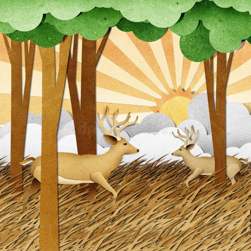Download Rotwild Aufbereiteter Papierfertigkeithintergrund Stock Abbildung - Illustration von künstlerisch, papier: 26362371