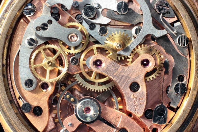 Rouage d'horloge de cru photographie stock libre de droits