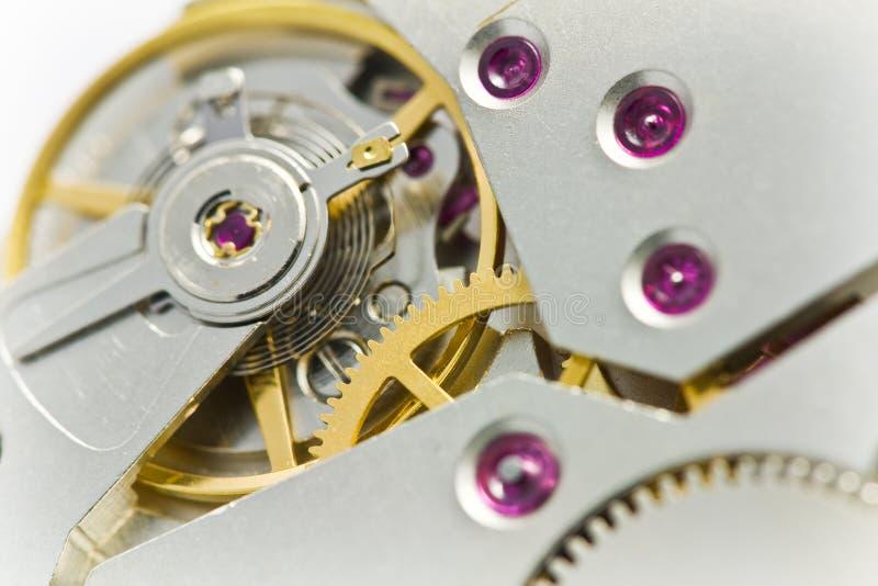 Rouages d'horloge avec des trains photo stock