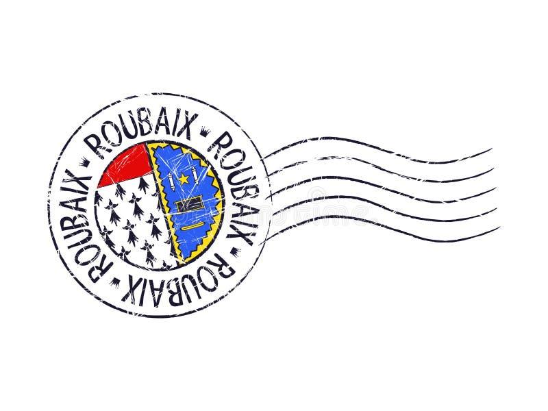 Roubaix-Stadtschmutz-Poststempel vektor abbildung