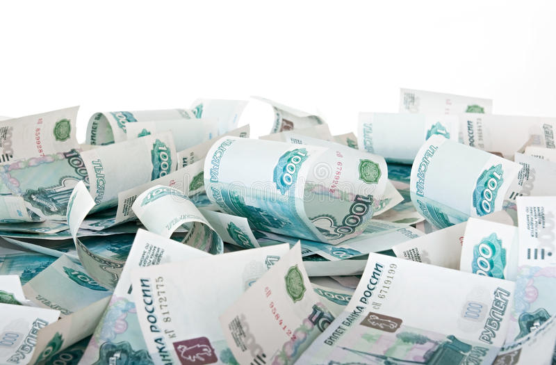 Rouble russe. images stock