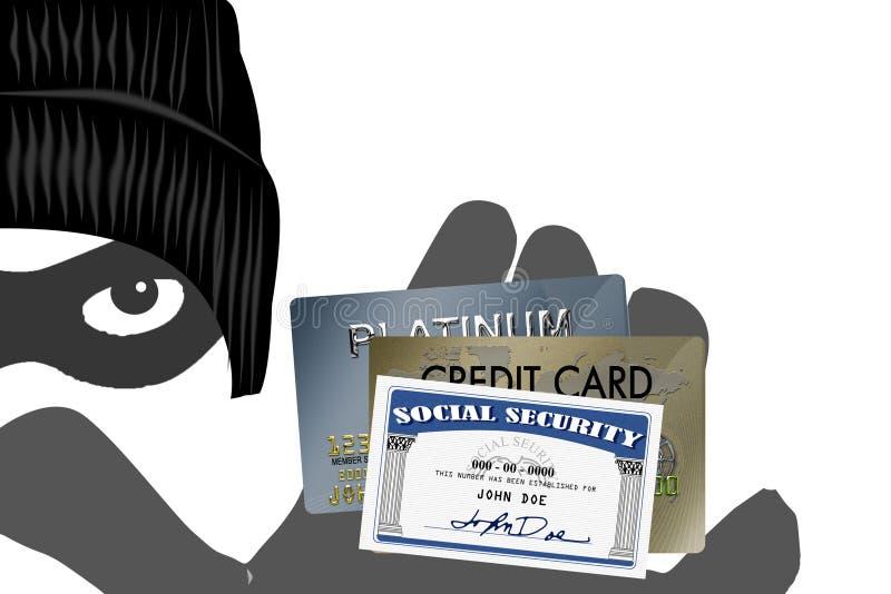 Roubo de identidade ilustração royalty free