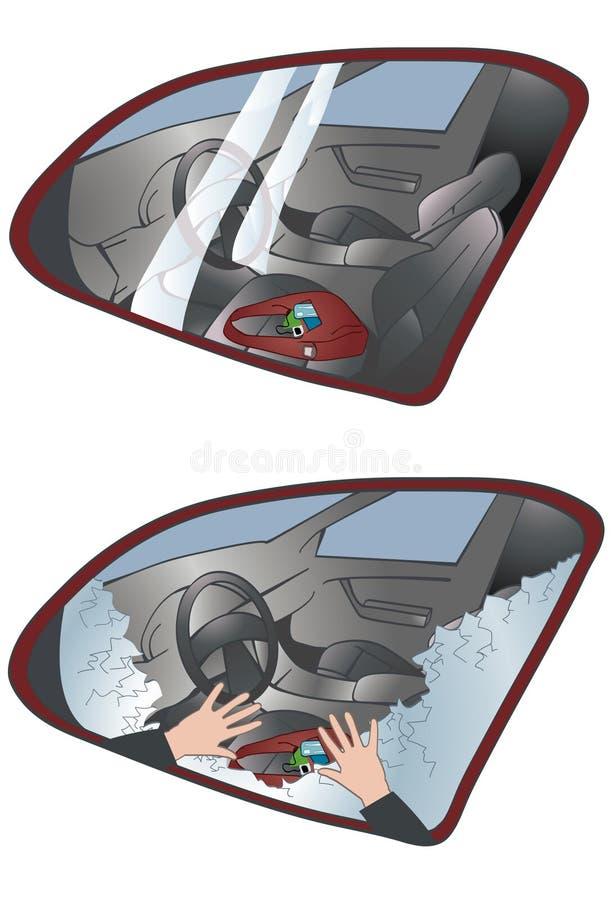 Roubo do carro ilustração royalty free