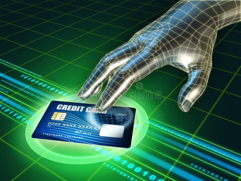 Download Roubo do cartão de crédito ilustração stock. Ilustração de negócio - 16858388