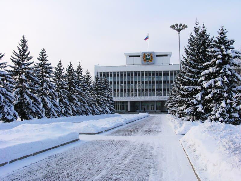 Roud de l'hiver. photo stock