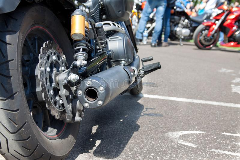 Roue arrière de moto photos libres de droits