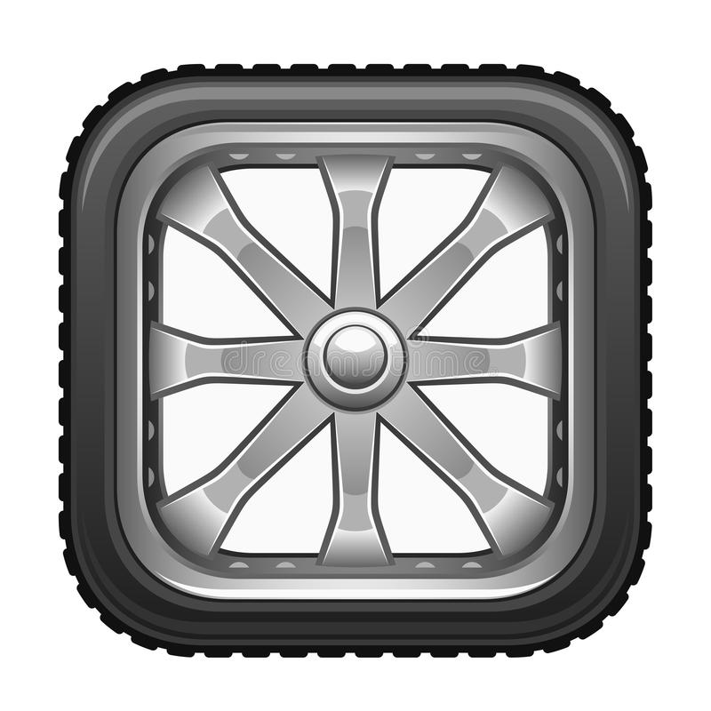 Roue carrée illustration stock