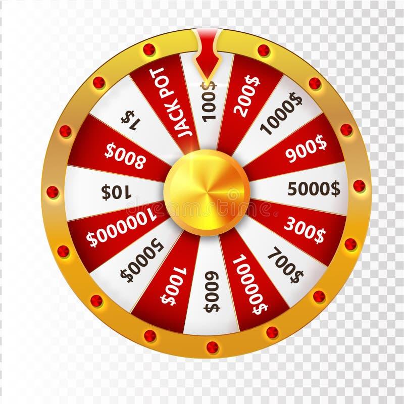Roue colorée de la chance ou de la fortune infographic Illustration de vecteur illustration de vecteur