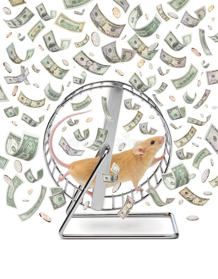 Roue d'argent de création de richesse d'affaires images stock