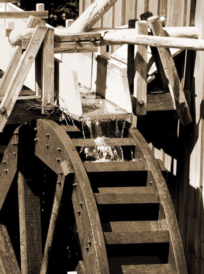 roue d'eau de moulin images stock
