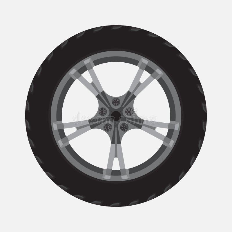 Roue d'icône, pneu, réparation, aide illustration libre de droits
