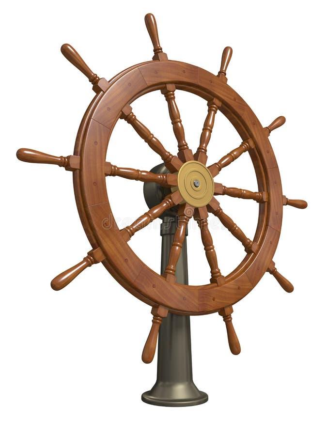 roue de bateau illustration stock illustration du direction 22408907. Black Bedroom Furniture Sets. Home Design Ideas