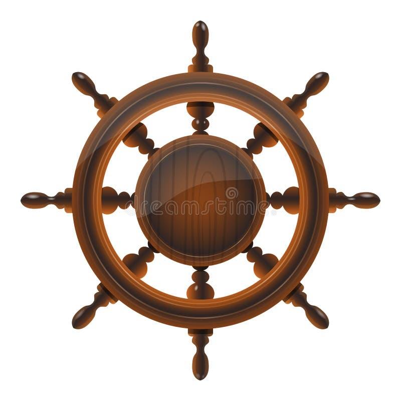 Roue de bateau illustration de vecteur