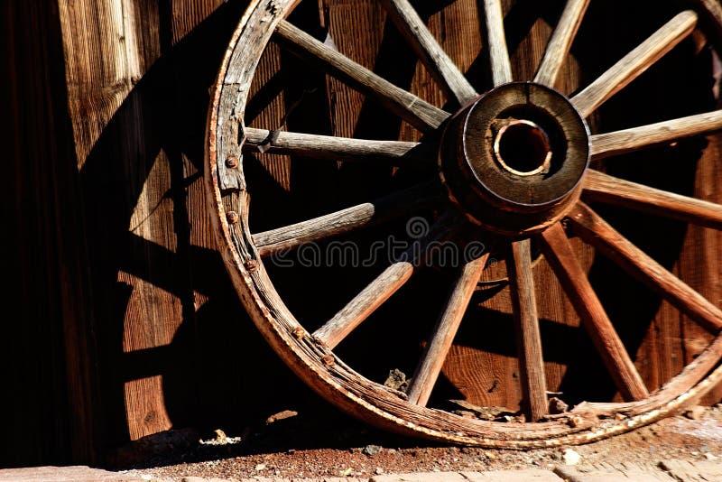 Roue de chariot de cheval photographie stock libre de droits