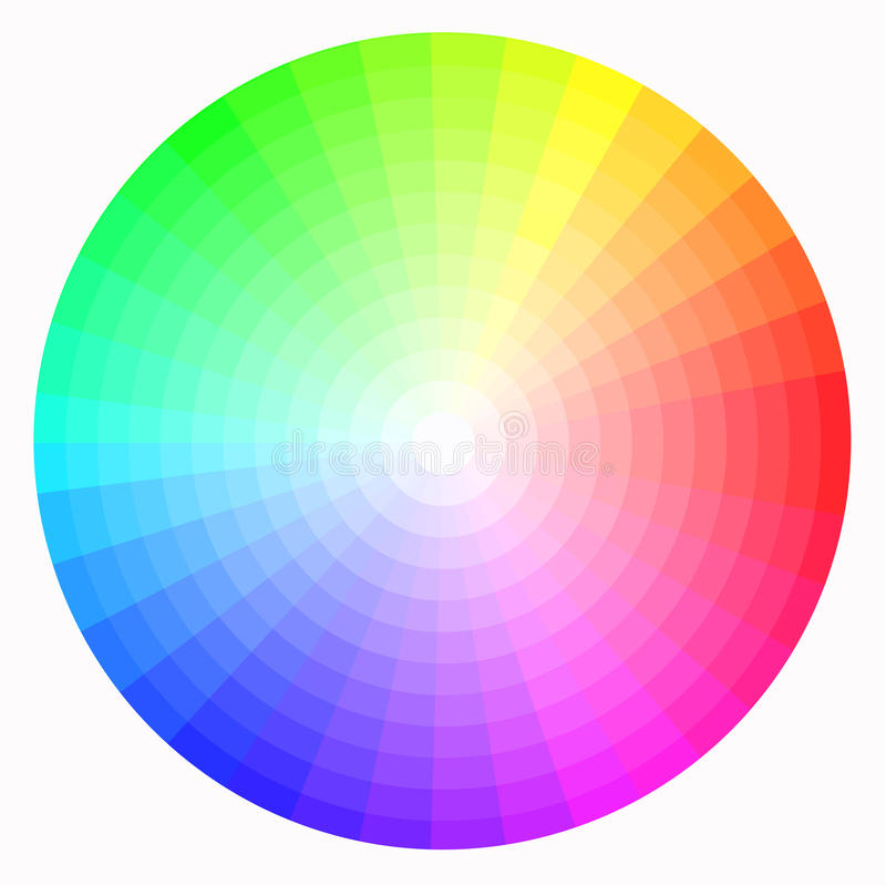 Roue de couleur illustration stock