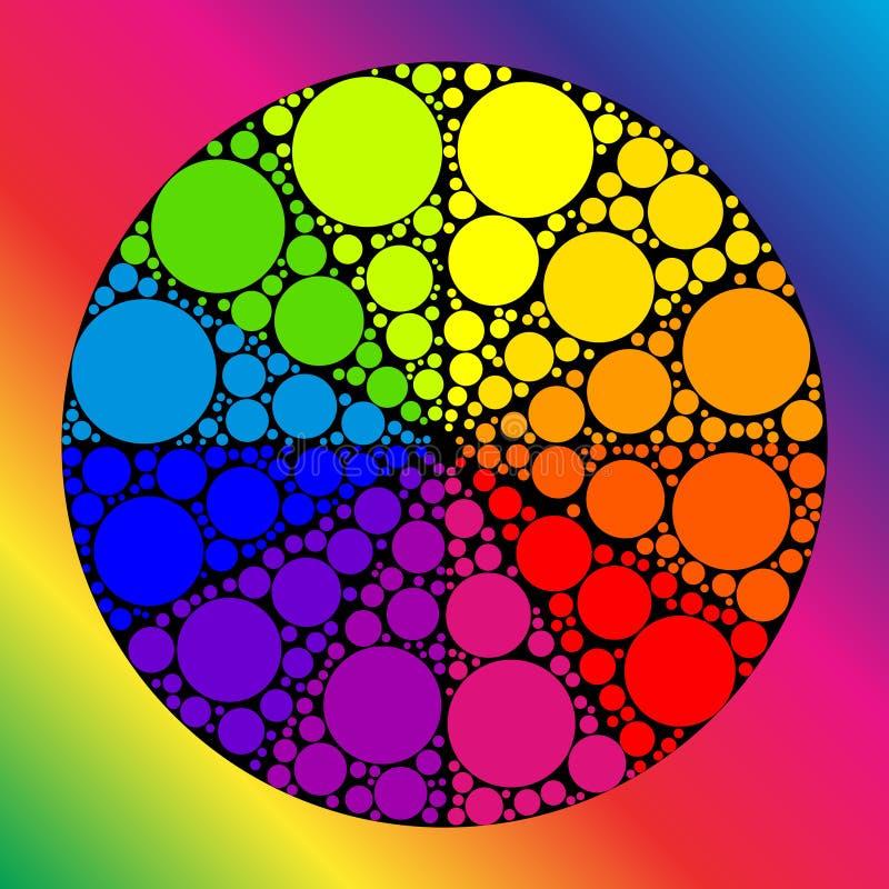 Roue de couleur ou cercle de couleur illustration de vecteur