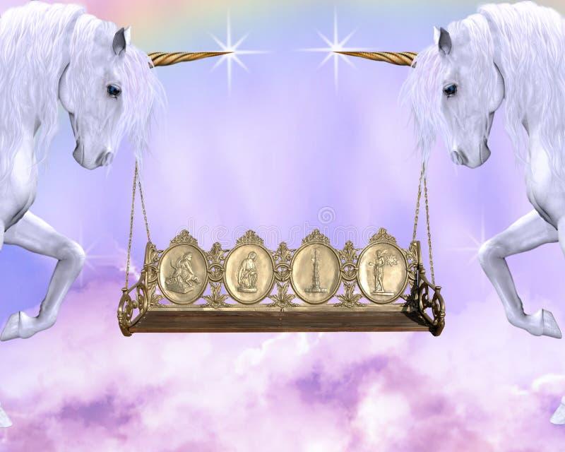 Roue de licorne illustration libre de droits