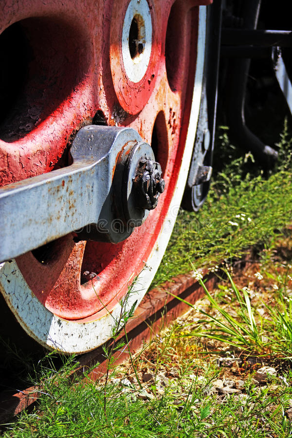 Roue de machine à vapeur photographie stock libre de droits