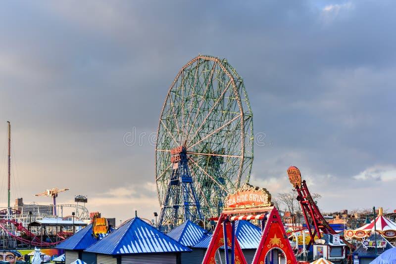 Roue de merveille - Coney Island photographie stock libre de droits