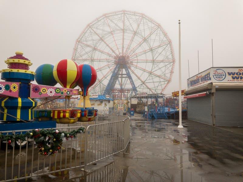Roue de merveille - Coney Island photos libres de droits