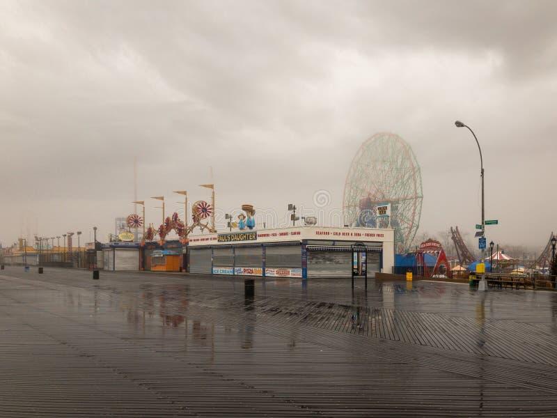 Roue de merveille - Coney Island images libres de droits