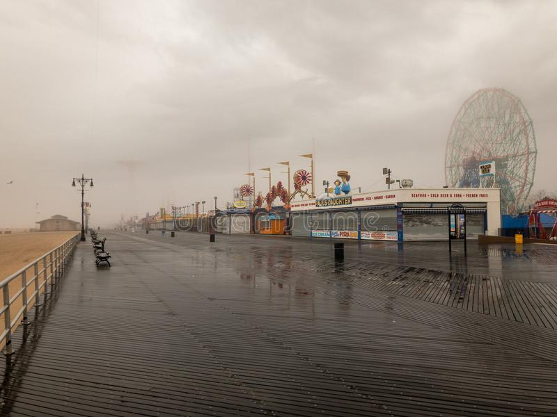 Roue de merveille - Coney Island photo stock