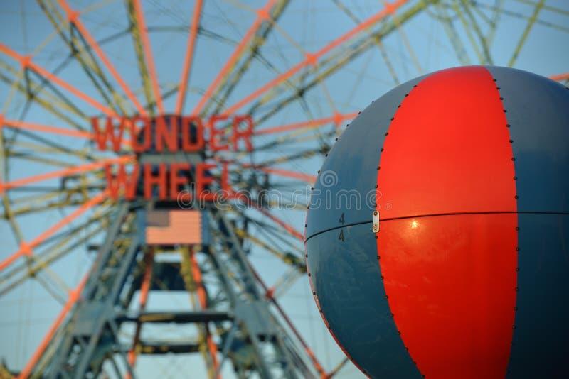 Roue de merveille, Coney Island photo libre de droits