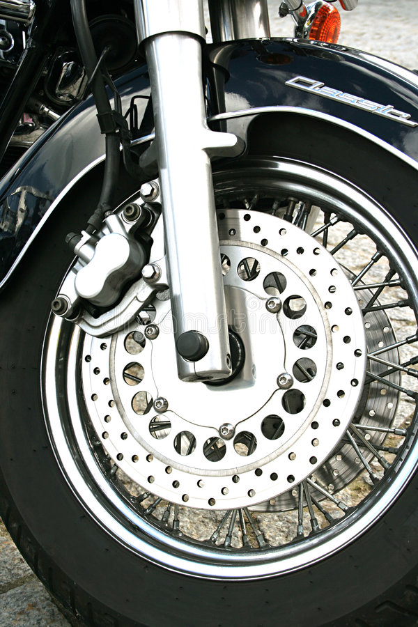 Roue de moto photographie stock libre de droits