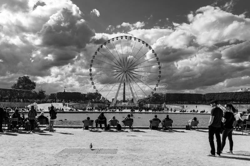 Roue DE Parijs - Ferris Wheel, Parijs stock afbeelding